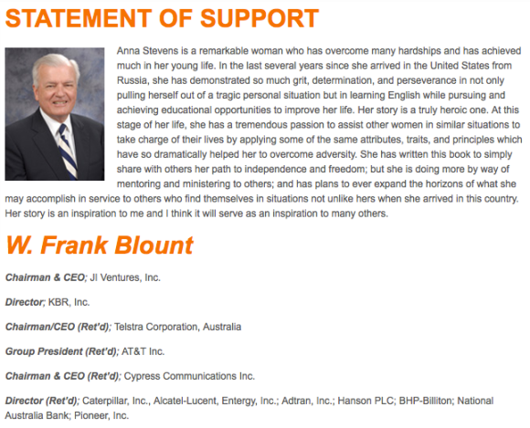 W. Frank blount, SMART goals Book